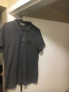 mens burberry polo shirt medium