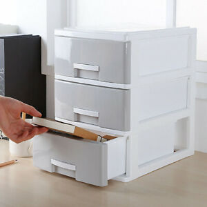 Plastic Drawer Organiser Table Mini Desktop Draw Tower Storage Box Home & Office
