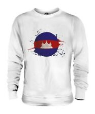 CAMBODIA FOOTBALL UNISEX SWEATER TOP GIFT WORLD CUP SPORT