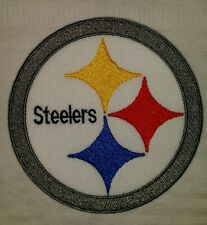 Pittsburgh steelers motorcycle biker embroidered vest patch iron on New