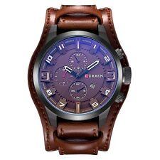 Curren Men Luxury Army Military Black Steel Analog Date Sport Quartz Wrist Watch