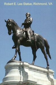 Confederate Statue of Robert E. Lee Monument Avenue Richmond Virginia - Postcard