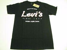 NWT Levis Jeans Brand Levis Vintage Logo T- Shirt Size Small Black