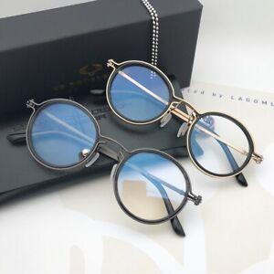 Luxury Retro Pure Titanium Men Eyeglass frames circle Gold Glasses Ultralight