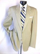 Saks Fifth Avenue Passport Beige Color Sport Jacket Blazer 42L 2Button 100% Cott