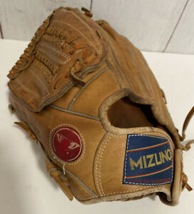 Vintage Mizuno MT1010 Lite Flex LHT Adult Softball/Baseball Crest Leather GUC