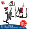 SPINNING BIKE FIT INDOOR BIKE CARDIO FREQUENZIMENTRO CICLO AEROBICO HOME FITNESS