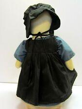 "Vintage Folk Art Handmade Faceless Amish Doll 18"""