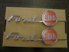 New Repro. 1955 Ford F100 Truck Pickup Hood Side Emblems Ornaments Badges