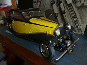 POCHER - K76 -BUGATTI 50 T del 1933 -Kit 1:8-Perfettamente montato-Anni 70-Raro-