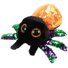 """TY Halloween 6"""" Flippables GLINT the Spider Beanie Boos Sequin Plush Toy MWMTs"""