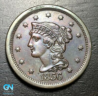 1856 Braided Hair Large Cent --  MAKE US AN OFFER!  #B6010
