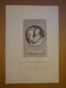 BELLE GRAVURE XVIII° PORTRAIT LOUIS XVI MARIE ANTOINETTE ROYALISTE BOURBON