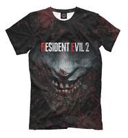 Resident Evil 2 old school game t-shirt monster face hardcore gamer horror