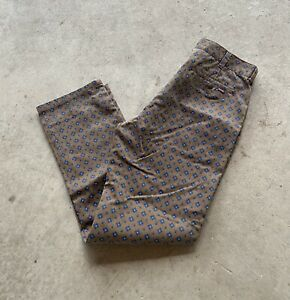 Mens Authentic Supreme Brown Foulard Supreme Work Chinos Size 34