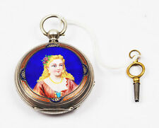 ANTIQUE LEO JUVET FLEURIER CHINA DUPLEX SILVER POCKET WATCH CHINESE MARKET
