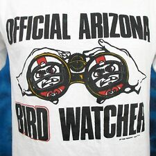 vintage 80s ARIZONA CARDINALS BIRD WATCHER T-Shirt MEDIUM phoenix football nfl