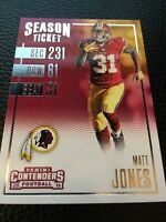 Matt Jones  Redskins 2016 Panini Contenders #11