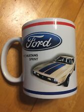 1972 Ford Mustang Sprint Coffee Cup Mug 8 Ounces