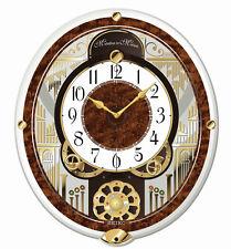 Seiko Musical Wall Clock Moving Face 6 Classical Melodies Swarovski QXM265BRH