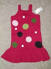 "GYMBOREE ""Pups and Kisses"" Polka Dot Sweater Dress Size 5~ NEW!"