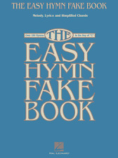 THE EASY HYMN FAKE BOOK-OVER 150 SONGS IN THE KEY OF C MUSIC BOOK-BRAND NEW-SALE