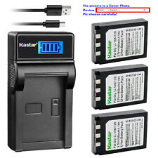 Kastar Battery LCD Charger for Olympus Li-10B Li-12B Li-10C Stylus 300 Digital