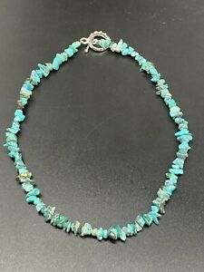"""Turquoise Chip Necklace~17"""" Inch~Unbranded"""
