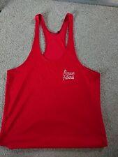 Mens Pursue Fitness Red Stringer Vest Medium Bodybuilding Workout Gym...