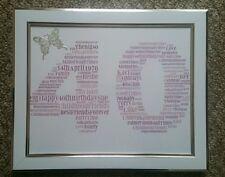 Personalised 10x8 Word Art Print. Photo Frame. 16th 18th 21st 30th 40th Birthday