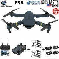 Drone E58 pro 2.4G Selfi WIFI FPV 2.0MP 720P HD Camera Foldable RC Quadcopter US