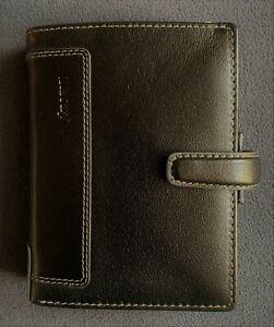 Filofax Holborn Pocket Organiser - DELUXE LEATHER - Schwarz - Neu - plus Zubehör
