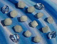 ANGEL WHITE RHODIZITE AND HERKIMER DIAMOND KIT. MEDITATION CRYSTAL HEALING REIKI