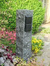 Doppelte Außensteckdose, Gartensteckdose aus Diorith, Naturstein, Steckdose