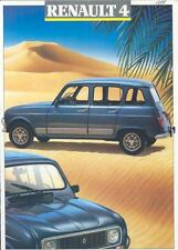 1989 Renault 4 Truck Brochure French t2964-F18UTY