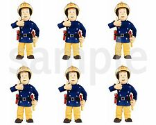 Fireman Sam Edible Party Image Cupcake Topper Frosting Icing Sheet Circles