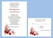 100 Custom Personalized Daisy Border Wedding Invitations Set 6 Colors