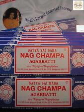 Encens NAG CHAMPA - Lot de 12  Boites de 40G = 480G ! (Masala Indian Incense)