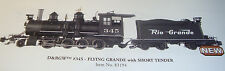 BACHMANN C-19 G-SCALE D&RGW #345 2-8-0 & TENDER 83194 FLYING LOGO NEW IN THE BOX