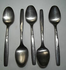 Garden Manor aka Brentwood Pattern 5 Dinner Spoons By IS Stainless Flatware USA