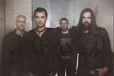 MUSIC: BUSH SIGNED 12x8 PORTRAIT PHOTO+COA *GAVIN, CHRIS, ROBIN & COREY*
