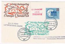 1958. Postal circulado desde Berlin con sellos de Alemania Occ , viñetas aereas