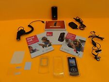Used red/rose Motorola Z3 Rizr slider mobile cell phone + 12 accessories +bonus