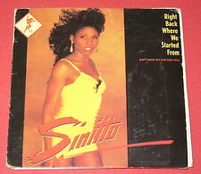 """Sinitta / Right Back Where we Started From - 3"""" Inch Maxi CD"""