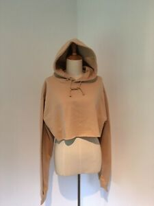 PRETTYLITTLETHING Caramel Ultimate Cropped Hoodie Brand New + Tags, Size Medium