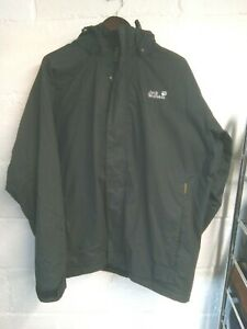 "Jack Wolfskin black Texapore waterproof jacket XXL/50""-52""chest"