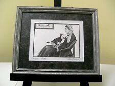 """SIGNED PRINT BY ARTIST NAN GABRIEL, """"WHISKERS MOTHER"""",  11"""" X 9"""""""