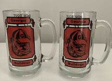 RARE University of Georgia Bulldogs Vtg 1980 National Champion Glass Beer Mugs