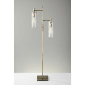Adesso Dalton Floor Lamp, Antique Brass - 3853-21