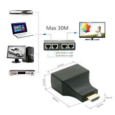 4K HD 1080P 3D HDMI Extender to Dual RJ45 Over Cat 5e/6 Network Ethernet Adapter